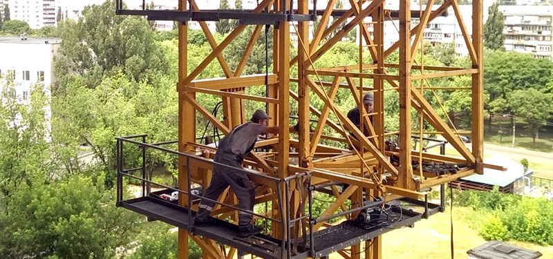 Монтаж башенного крана