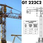 Башенный кран BPR GT 222 C2